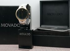 Swiss Movado Luno 2Tone 18K Gold Plated/ S.S Men's Model # 0607043 Retail $1095