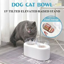 Pet Feeder Dispenser Dog Cat Feeding Food Water Plastic Bowl Dish Elevated