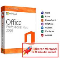 Microsoft Office 2016 Professional Plus MS Pro Plus Key | Vollversion Original