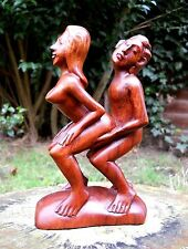 Carved Wooden Nude Erotic Abstract Statue Kama Sutra 17 cm Handmade Indonesia