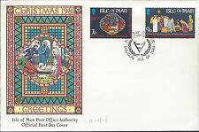 FDC 9/29/81 Isle Of Man, Christmas Greetings