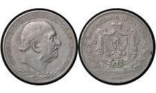 40 Countermarked // 2 Perpera 1910 // Montenegro Silver Coin // Nikola I // # 7