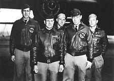 1942-# 1 Crew-Doolittle Tokyo Raiders in Front of B-25 on Deck of USS Hornet