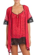 In Bloom by Jonquil Womens Hearts 3-Piece Pajama Set Robe Chemise Thong NWT Sz S