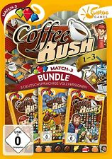 Coffee Rush 1-3 Sunrise Games PC Spiel Match 3 Neu & OVP