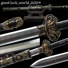 Unique Top Boutique Chinese Longquan Sword Pattern Steel Copper Genuine Ray Skin