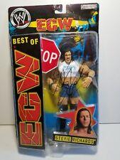 Autographed Signed Stevie Richards Best ECW Wrestling Figure Jakks Pacific WWE