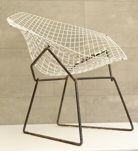 #4028 - Original Knoll Harry Bertoia Stuhl Sessel Diamond Chair 60 J. -  1 von 5