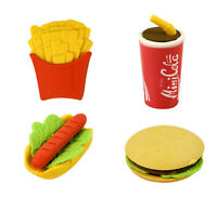 FAST FOOD ERASERS RUBBERS BOYS GIRLS TOY FAVOR LOOT BIRTHDAY PARTY BAG FILLER