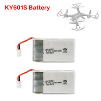 2Pack Original KY601S RC Drone Lipo Battery1800mAh 3.7V Toys Accessory 15-20mins