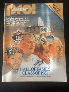 Willie Davis autographed signed Pro! Program 8/29/81 Hall Of Fame Class 1981
