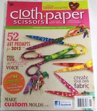 Cloth Paper Scissors Card Collage Art Print Magazine 2012 Back Issue Custom Mold
