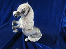 Vtg Cheval Ceramics Dapple Grey Rearing Sitting up Pony Horse Porcelain