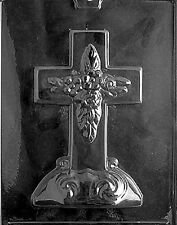 R025 Large Cross with Base Chocolate Candy Soap Mold with Instructions