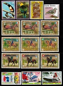 PAGE OF EQUATORIAL GUINEA DECIMAL STAMPS CTO WITH FULL GUM #18