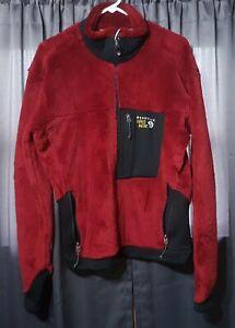Men's Mountain Hardwear Burgundy Monkey Man Fleece Jacket Size LARGE