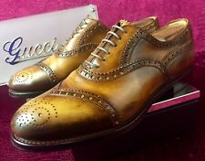 $720 Mens Gucci Leather Oxfords Sz 8.5 G / 9.5 US / 42,5 E / Made In ITALY