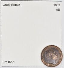 1902 Great Britain 1/3 Farthing (Km #791)