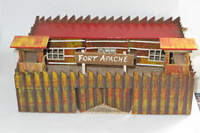 vintage wooden toy fort apache for britains crescent timpo toy soldiers