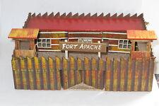 VINTAGE IN LEGNO GIOCATTOLO Fort Apache per Britains MEZZALUNA TIMPO SOLDATINI