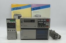Sony Sl-2000 Betamax Player Recorder & Sony Tuner Timer Unit Tt-2000 W/ Remote
