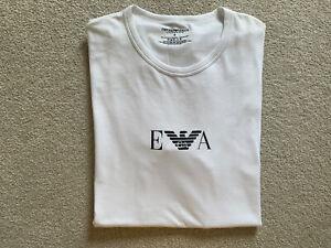 ARMANI JEANS AJ White Slim Fit Crew Neck T-Shirt, Size M, BNWOTS