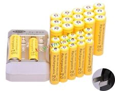 16pcs AA 3000mAh + 16pcs AAA 1800mAh Rechargeable 1.2V Ni-MH Battery+ AA Charger