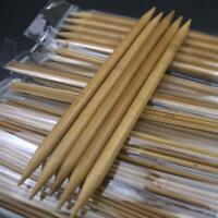 75pcs 2-10mm Carbonized Bamboo Double Pointed Crochet Knitting Needles Craft DIY