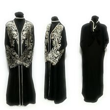 Women Closed Front Abaya Dress Saudi Long Abaya Farasha Jilbab Burka Kacaftan