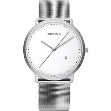 BERING Armbanduhr Herren Damen 11139-004 Saphirglas Datum Edelstahlband NEUHEIT