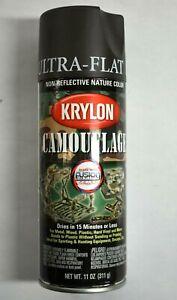 Lot of 6 Krylon Camouflage Ultra Flat 12 oz Aerosol Spray Paint Fusion Plastic