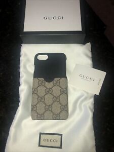 Gucci I PHONE 7/8 COVER GG SUPREME BEIGE EBONY