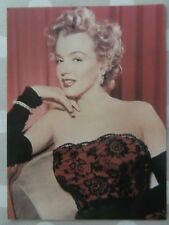80s Postcard - Marilyn Monroe 1952 in red lace gown Athena