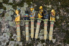 RE0116   SIX  STYLO    EGYPTE  EGYPTIEN  TOUTANKAMON NEFERTITI