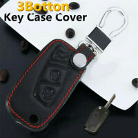 3 Botton Pu Leather Key Case Cover For FIAT Panda Stilo Punto Doblo Grande Bravo