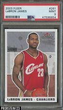2003-04 Fleer Tradition #261 LeBron James Cleveland Cavaliers RC Rookie PSA 9