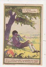 Le Gland Et La Citrouille Children Art France Vintage Postcard 875a