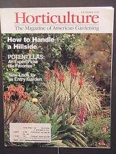 Horticulture Magazine how to handle a hillside potentillas garden December 1995
