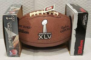 SUPER BOWL XLV 45 Authentic Wilson NEW IN BOX!