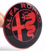 2x Set Alfa Romeo ROT SCHWARZE Emblem Kühlergrill 147 156 159 Mito Giulia 74mm