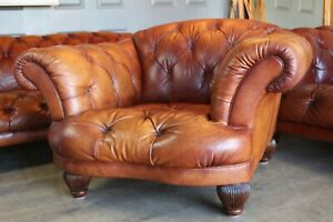 Tetrad oskar chesterfield brown leather armchair