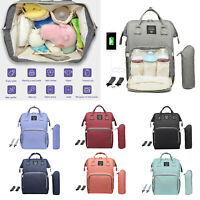 Waterproof Nappy Dipper Changing Bag Baby Care Travel Maternity Mummy Backpack