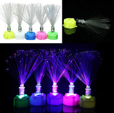 1PC Lamp Stand Home LED Fiber Optic Colorful Changing Garden Decor Night Light