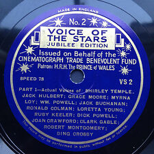 VOICE OF THE STARS Jubilee Edition soundtracks EP 1944 Cooper Gable Colman Bing