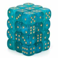 Borealis: 12Mm D6 Teal/Gold Luminary Dice Block (36 Dice) (US IMPORT) ACC NEW