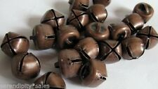Lot 200 ANTIQUE COPPER Finish Jingle BELLS 10mm -11mm Primitive Steampunk