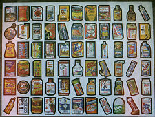 TOPPS Wacky Packages 1970s UNCUT Sheet - Marked SERIES # 1 - 66 Stckers on Sheet