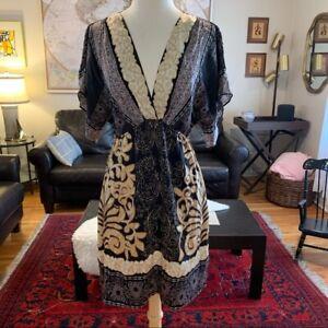 Hale Bob Women's Kimono silk dress sz M MSRP $288