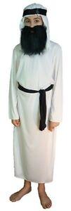 SHEPHERD JOSEPH ARAB WITH BEARD FANCY DRESS COSTUME NATIVITY MEDIUM AGE 7 - 9 YR
