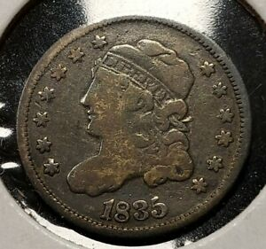 1835 H10c Capped Bust Silver Half Dime - Value Coin - VG+ - SKU-T2870